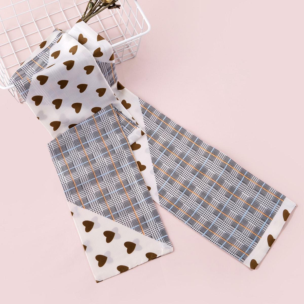 shein Hart patroon Twilly sjaal