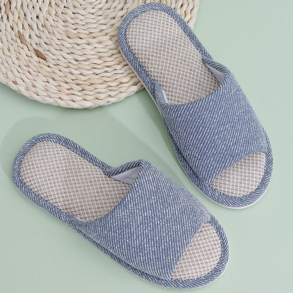 Мужские тапочки с открытым носком в минималистском стиле от SHEIN