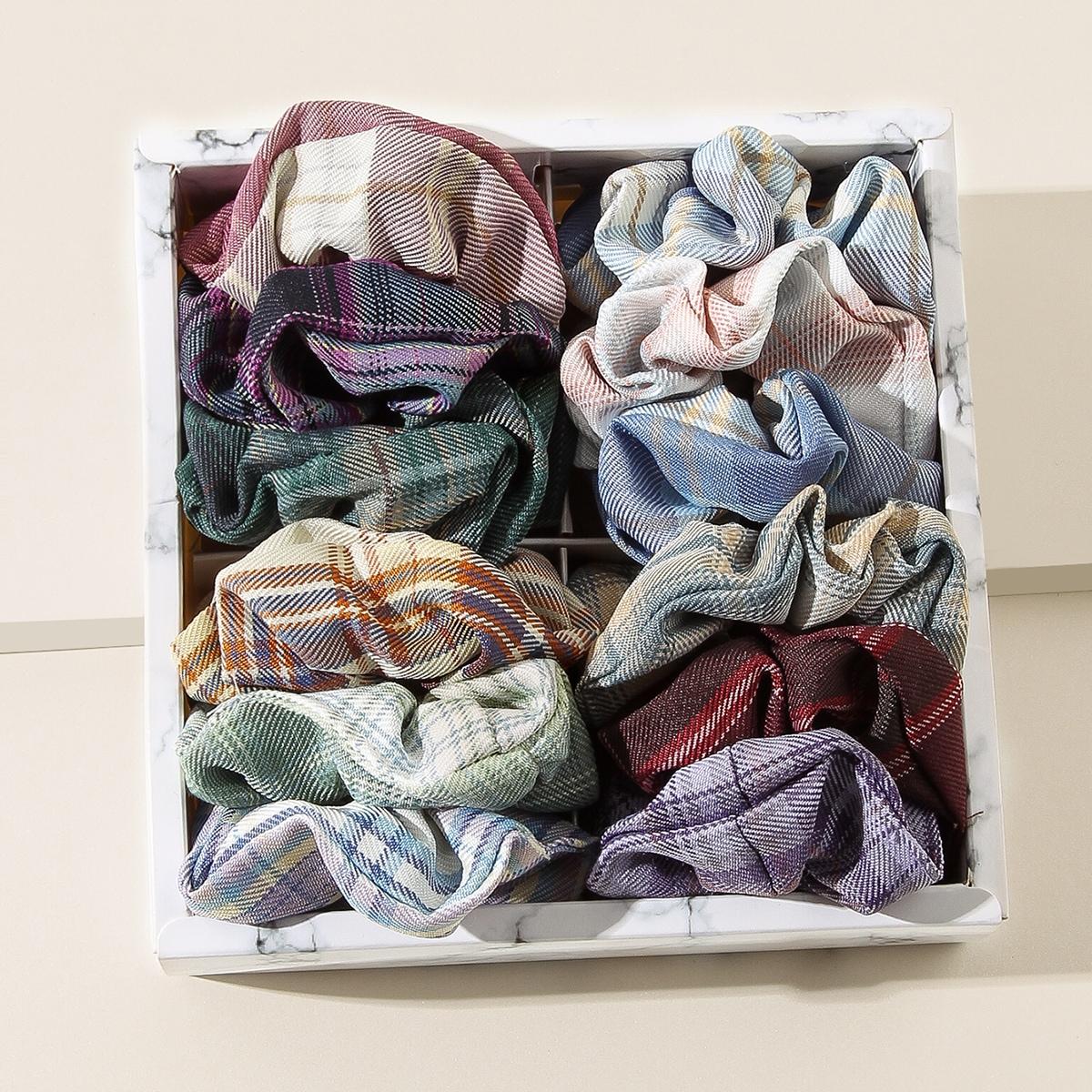 1Plaid Pattern Scrunchie, SHEIN  - buy with discount