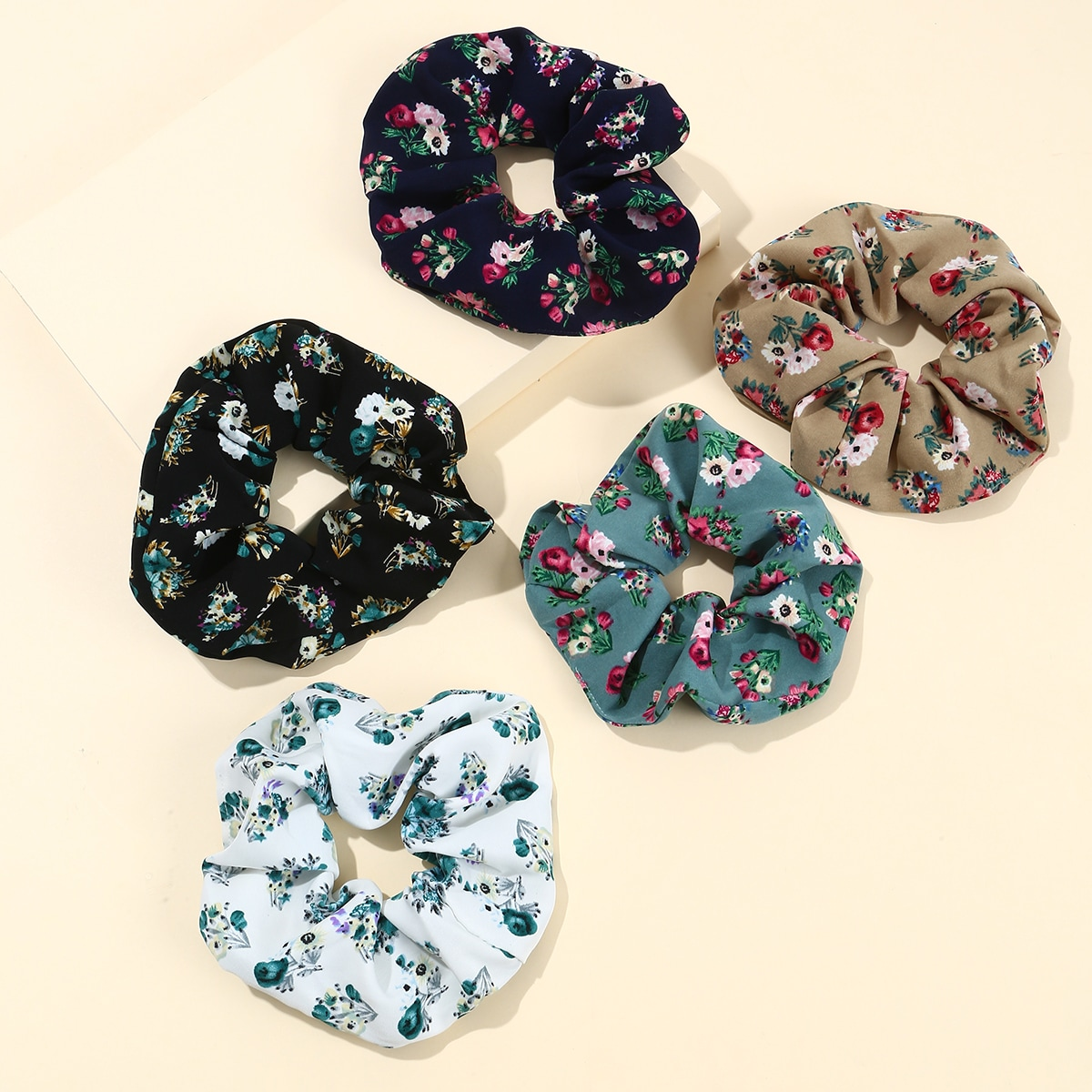 Ditsy Floral Print Scrunchies, SHEIN  - buy with discount