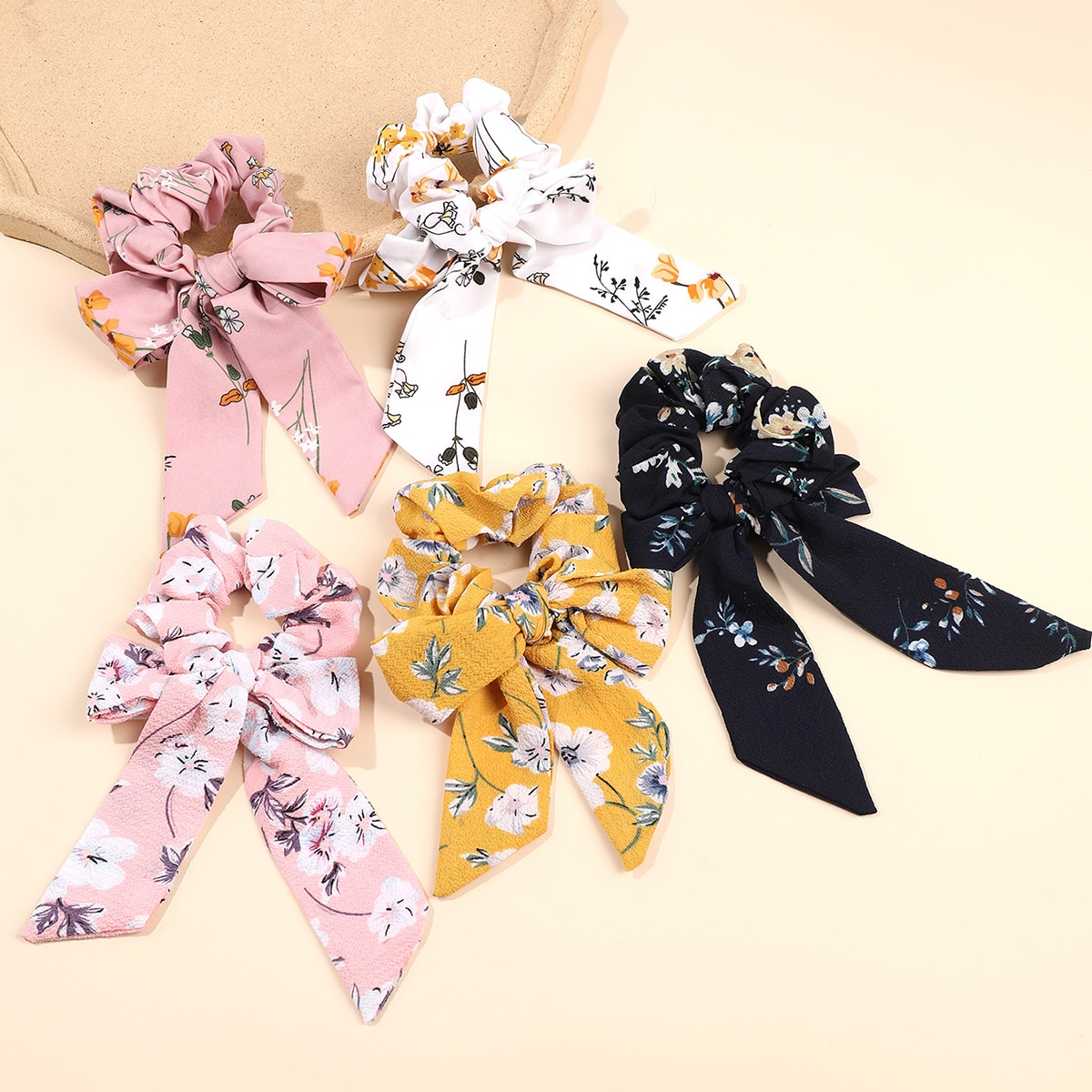 Flower Print Hair Tie, SHEIN  - buy with discount