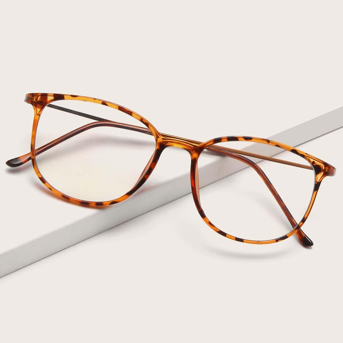 Brille mit Schildpatt Muster Rahmen