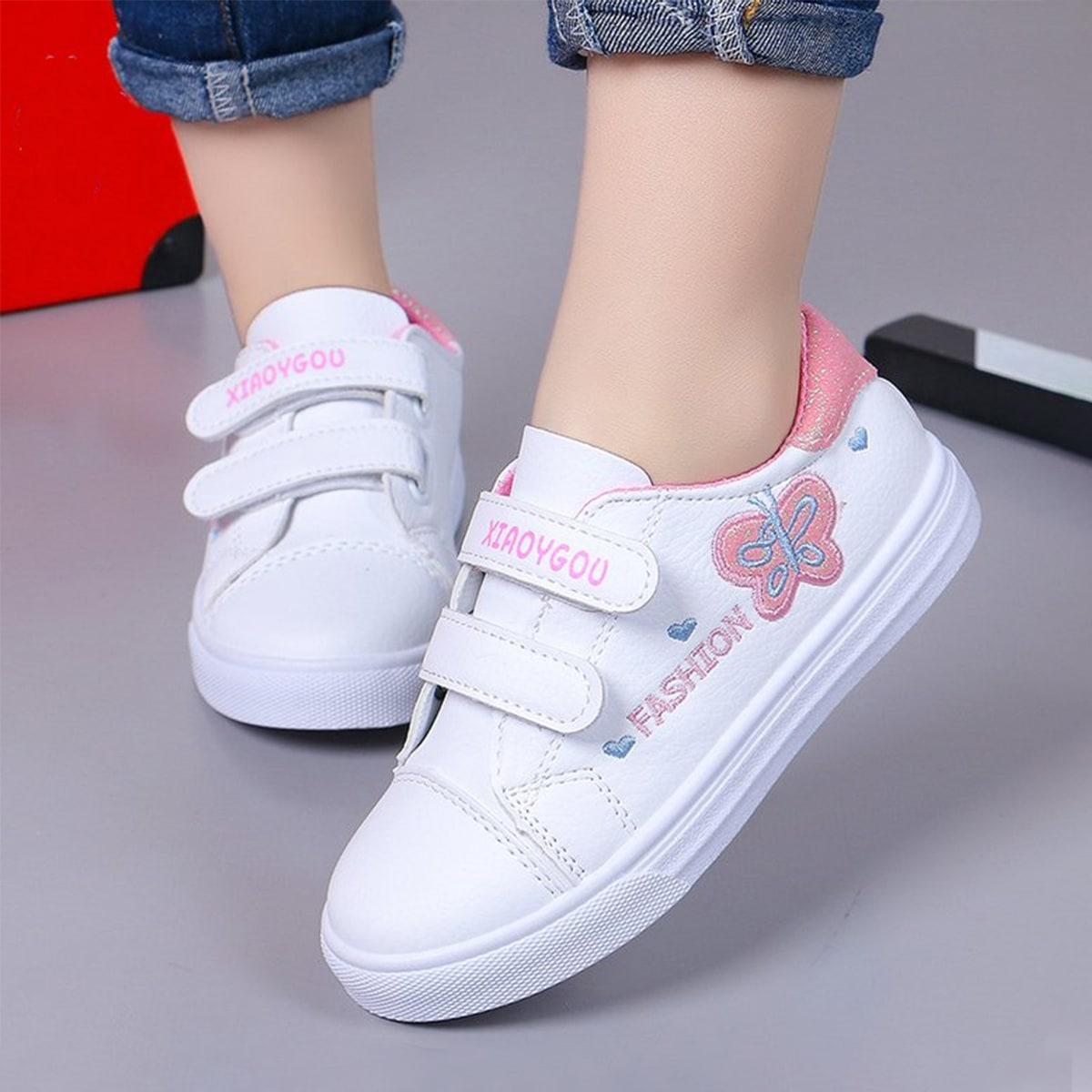 Обувь для скейтбординга с текстовым принтом для девочек от SHEIN