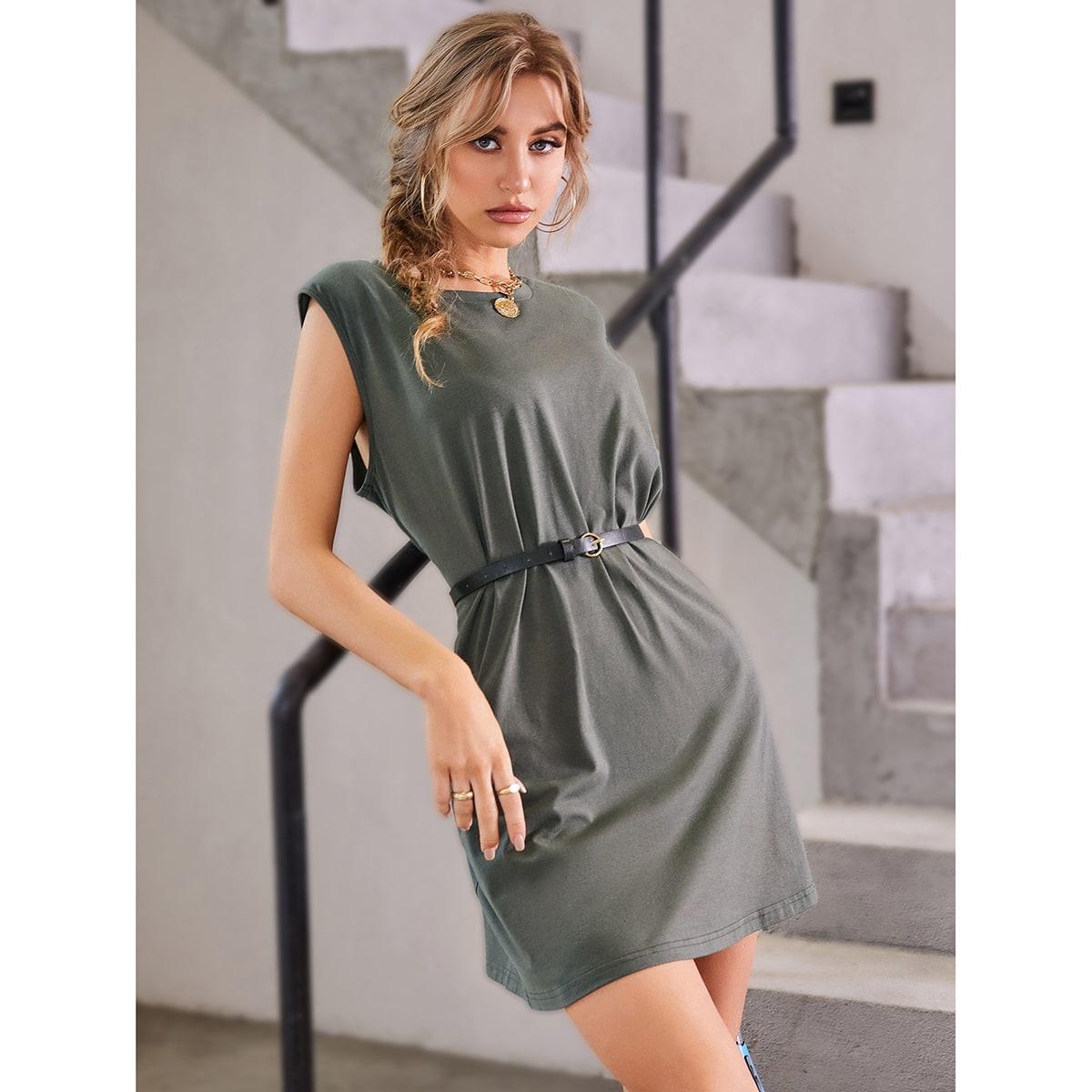 Платье-майка с поясом