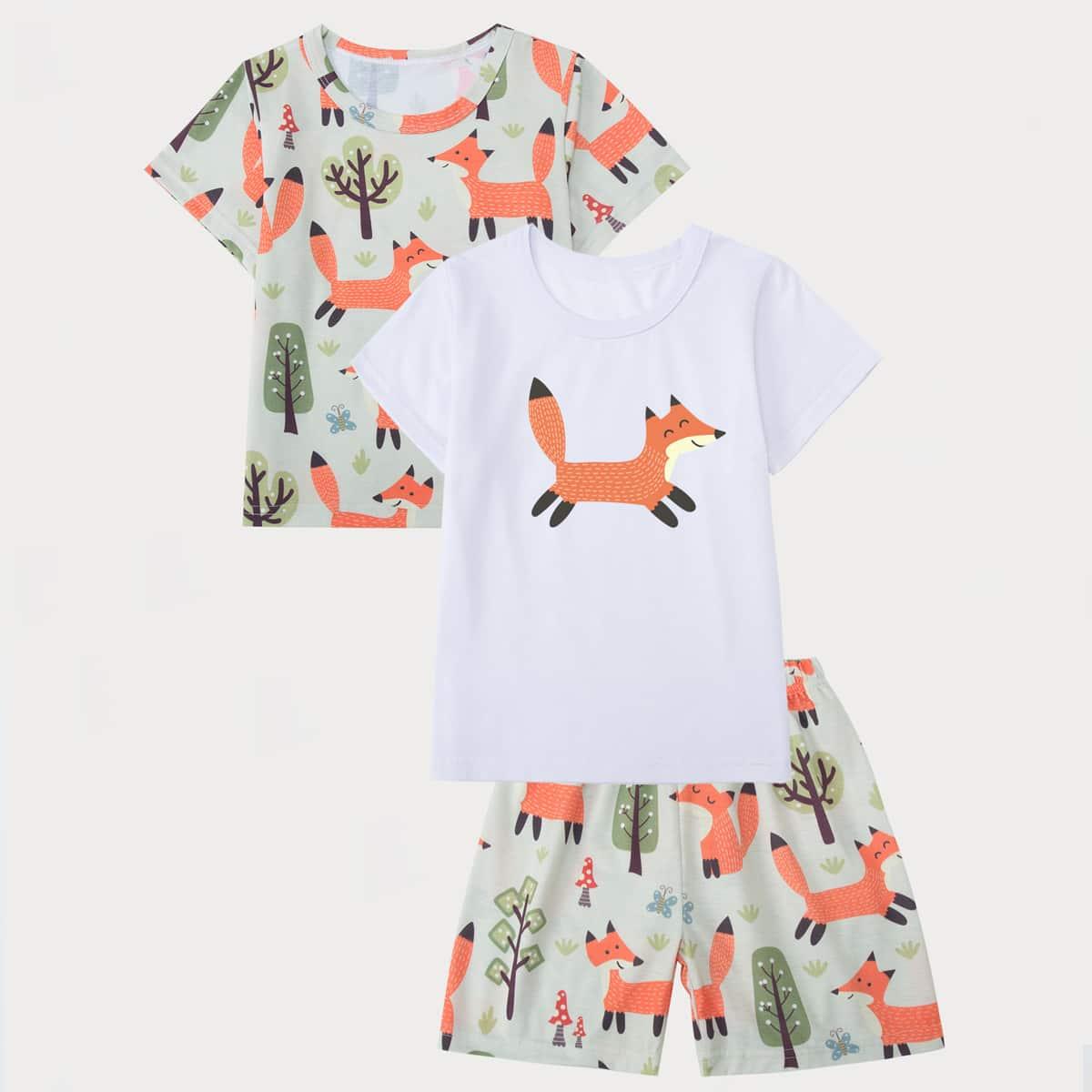 Мультяшный принт милый Домашняя одежда для мальчиков