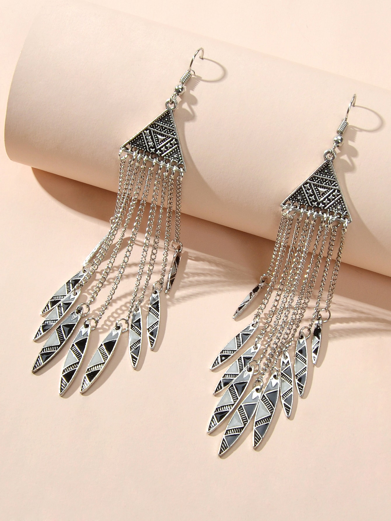 Серьги-подвески с бахромойswear18210104707
