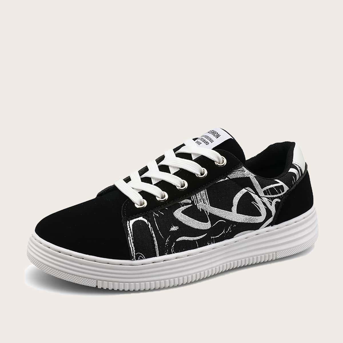 Обувь для скейтбординга на шнурках для мальчиков от SHEIN