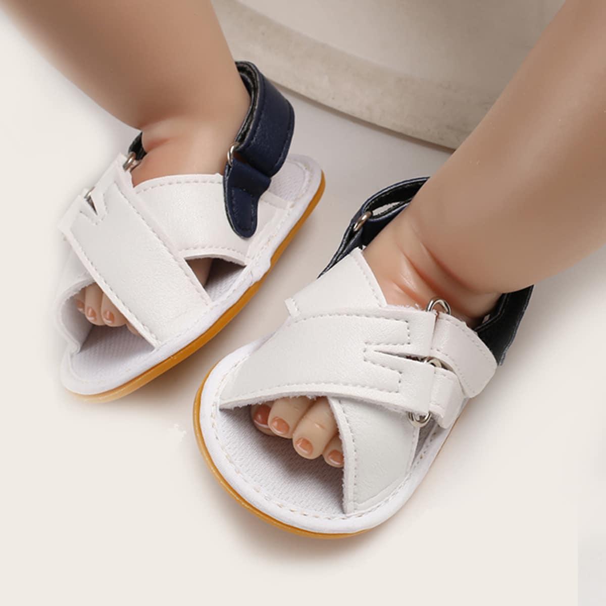 SHEIN Samessandalen Kleurblok Baby sandaaltjes