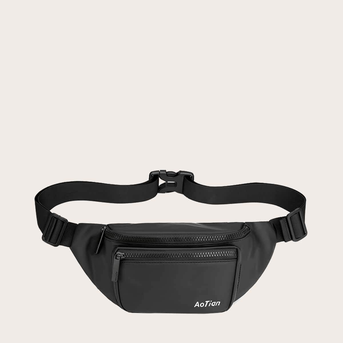 shein Heren Letter Graphic Fanny Pack