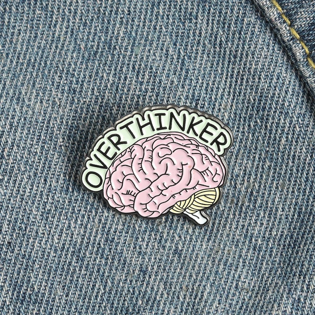 Brosche mit Gehirn Design