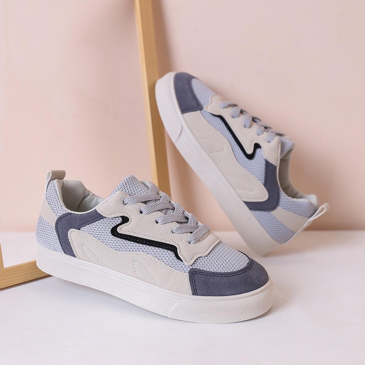 shein Mesh sneakers met veters aan de voorkant