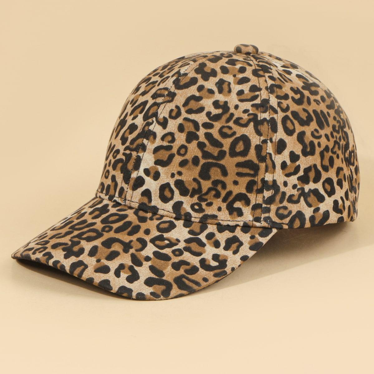 Men Leopard Pattern Baseball Cap, SHEIN  - buy with discount