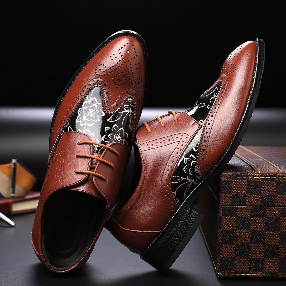 Официальные туфли с цветочным принтом
