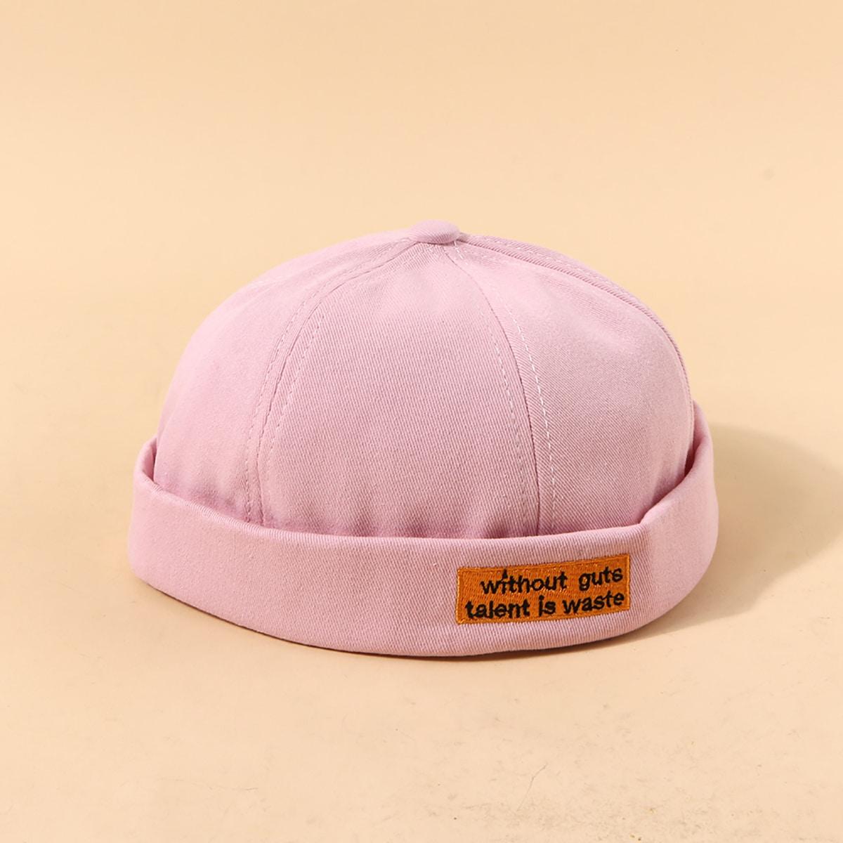 Docker Hut mit Buchstaben Stickerei