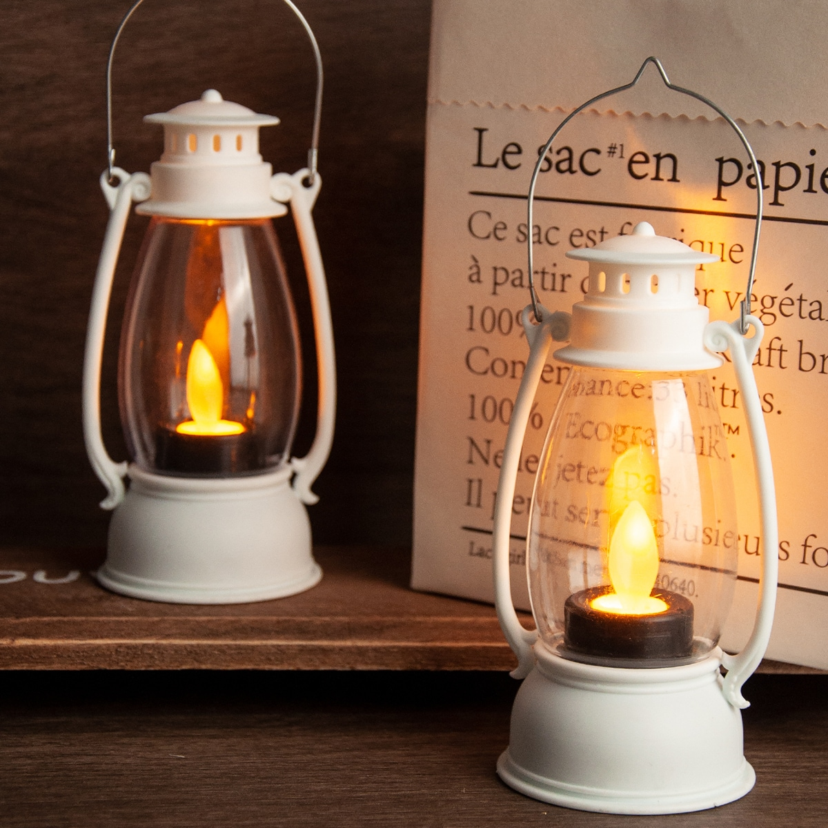 1Pc Vintage Kerosene Lamp Design Light