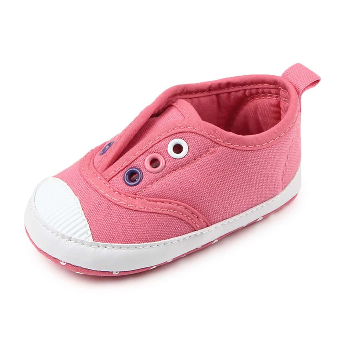 Холщовые туфли для девочек