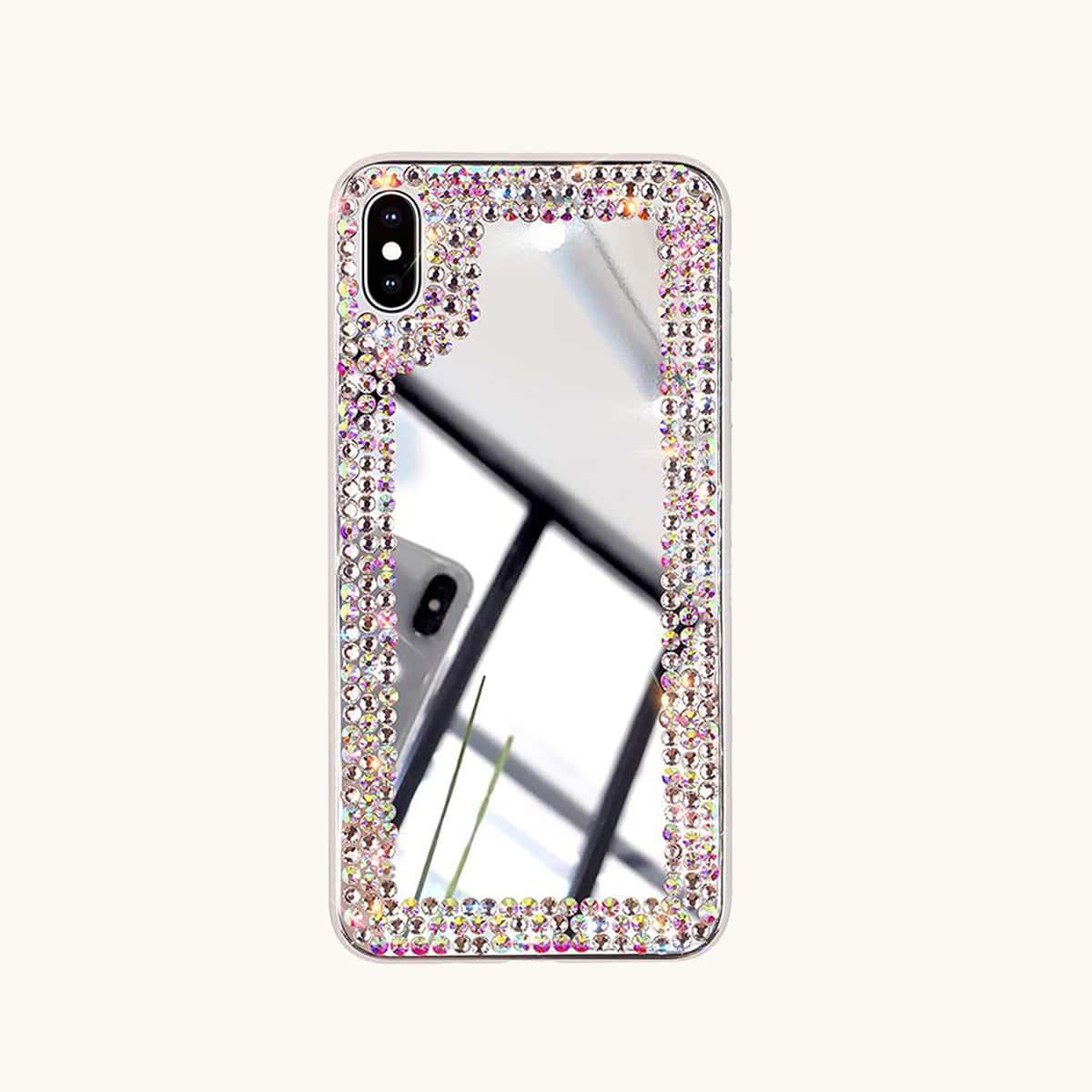 Strass Spiegel Oberfläche iPhone Hülle