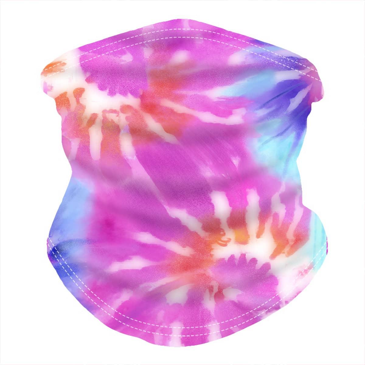 shein Tie Dye zonbescherming voor het gezicht
