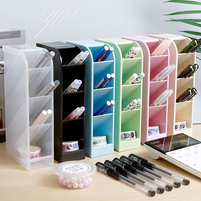 1pc Multi-grid Pen Holder, Multicolor