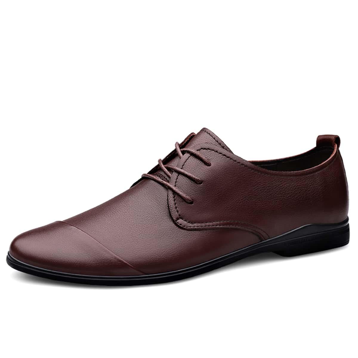 Мужские официальные туфли на шнурках
