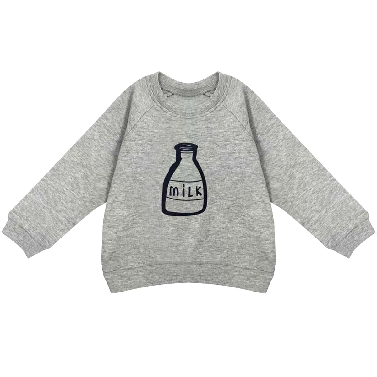 Toddler Boys Raglan Sleeve Milk Bottle Print Pullover