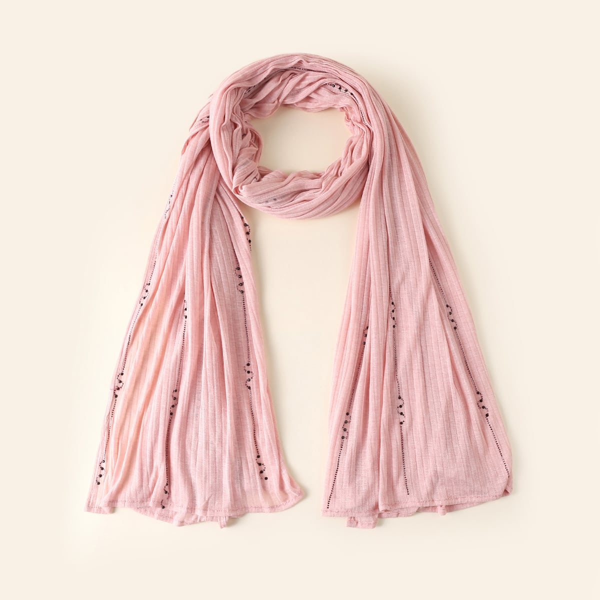 Простой шарф в рубчик