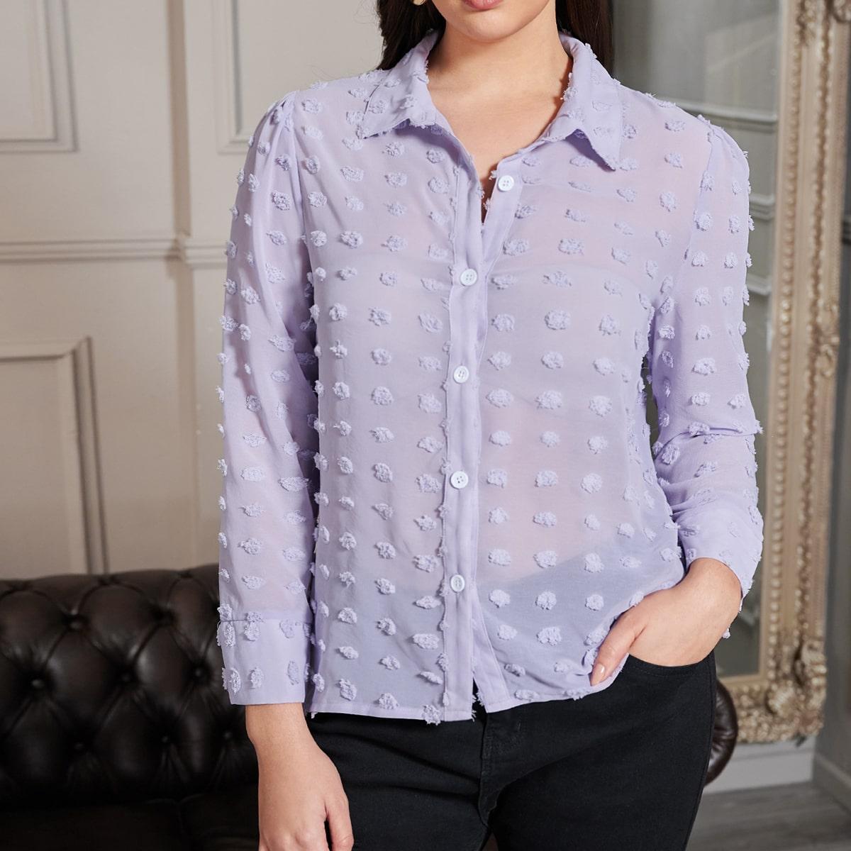Блуза на пуговицах размера плюс