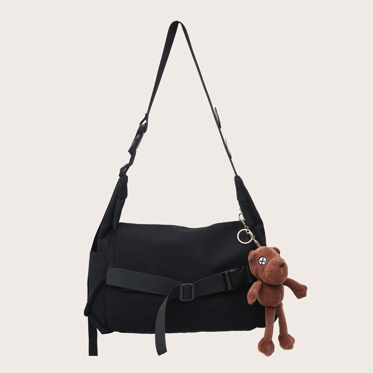 shein Mannen Cartoon Charm Crossbody Tas