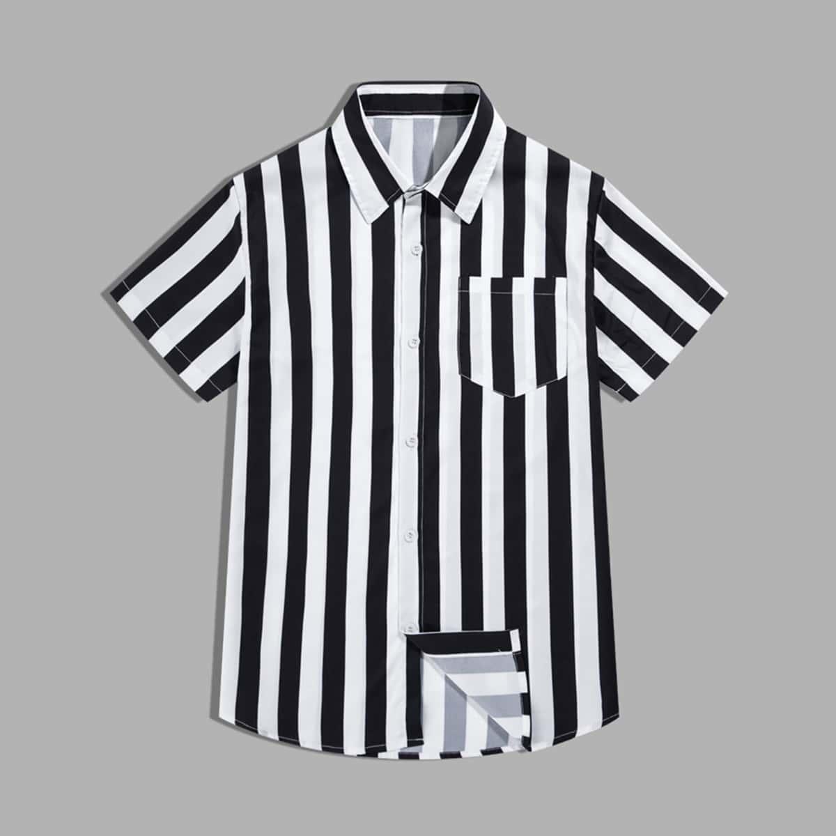 Мужская рубашка в полоску SheIn smshirt03201224783