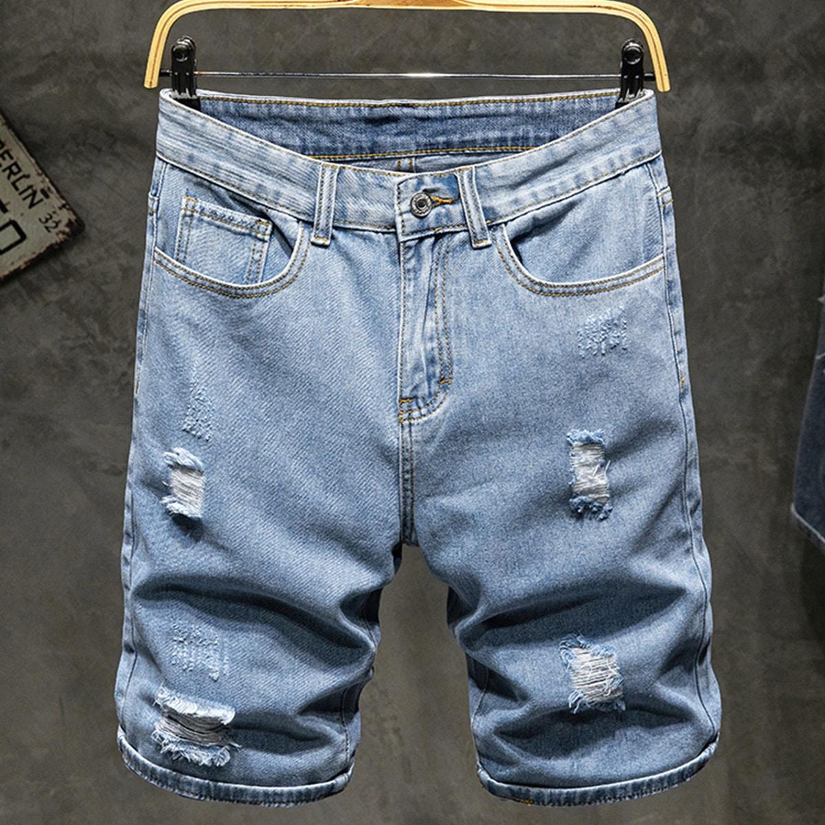 Мужские рваные джинсовые шорты по цене 1 450