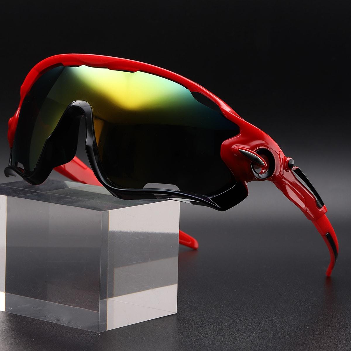 Мужские спортивные велосипедные солнцезащитные очки с тонированными линзами от SHEIN
