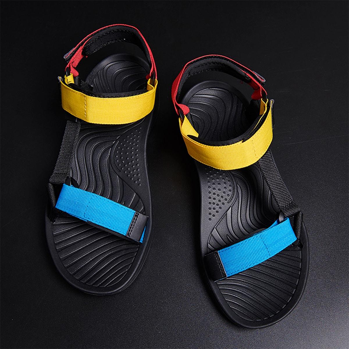 shein Heren sandalen met kleurblokken