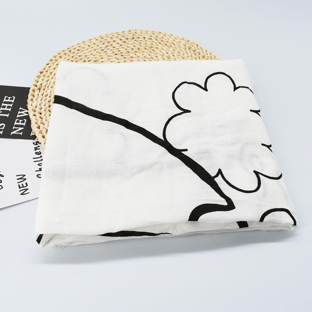 Детское одеяло с мультипликационным рисунком