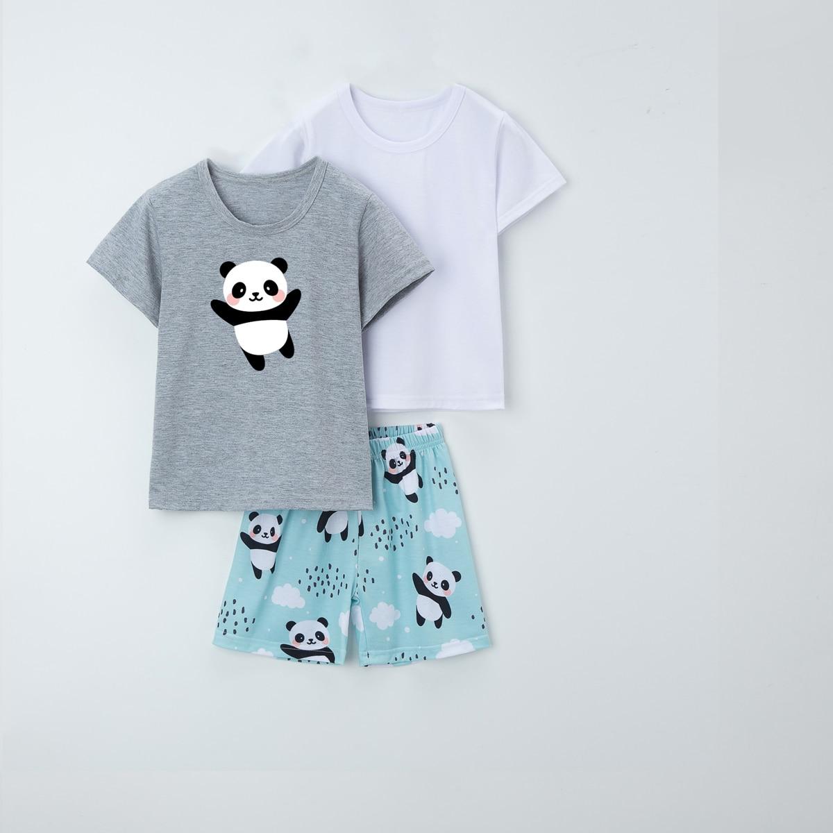3 пакета пижама с мультипликационным принтом для мальчиков