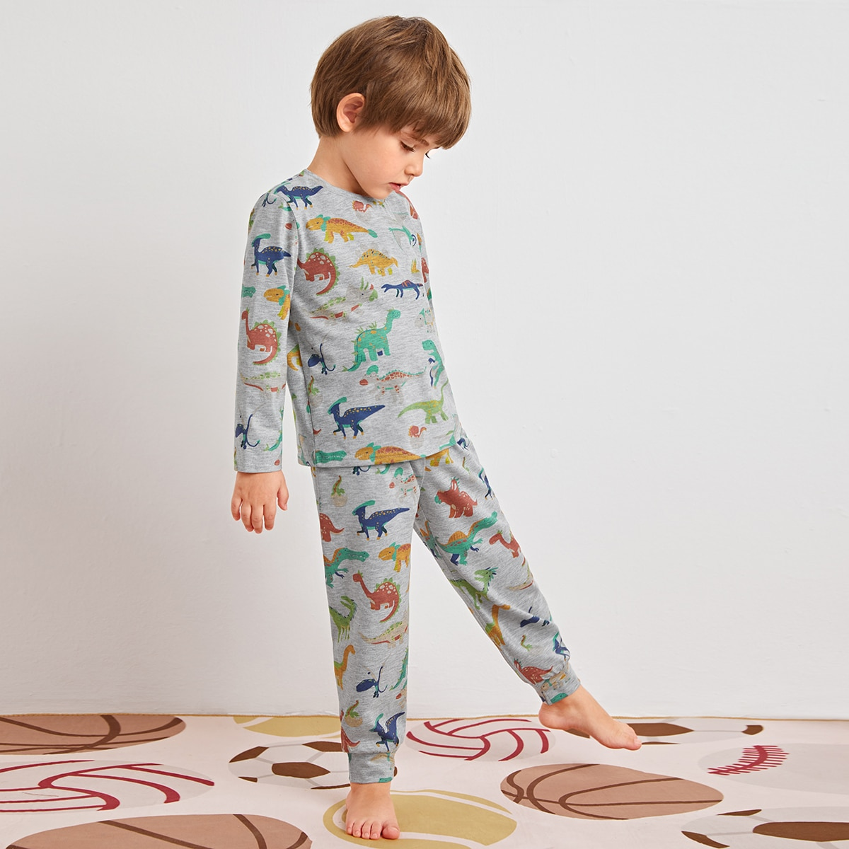 Пижама с принтом динозавра для мальчиков