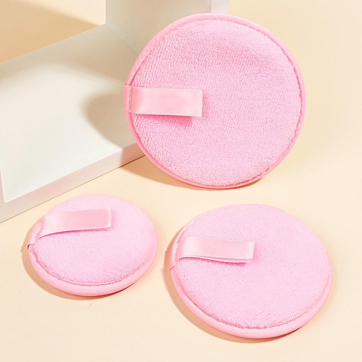 3шт пуховка для снятия макияжа