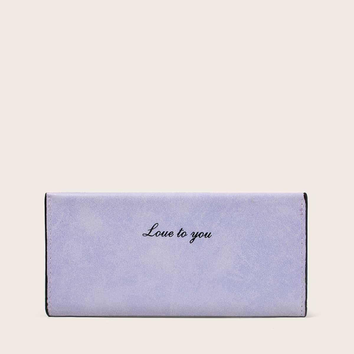 shein Letter grafische lange portemonnee