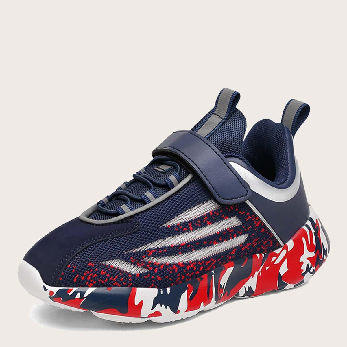 Вязаные кроссовки для мальчиков на липучках от SHEIN