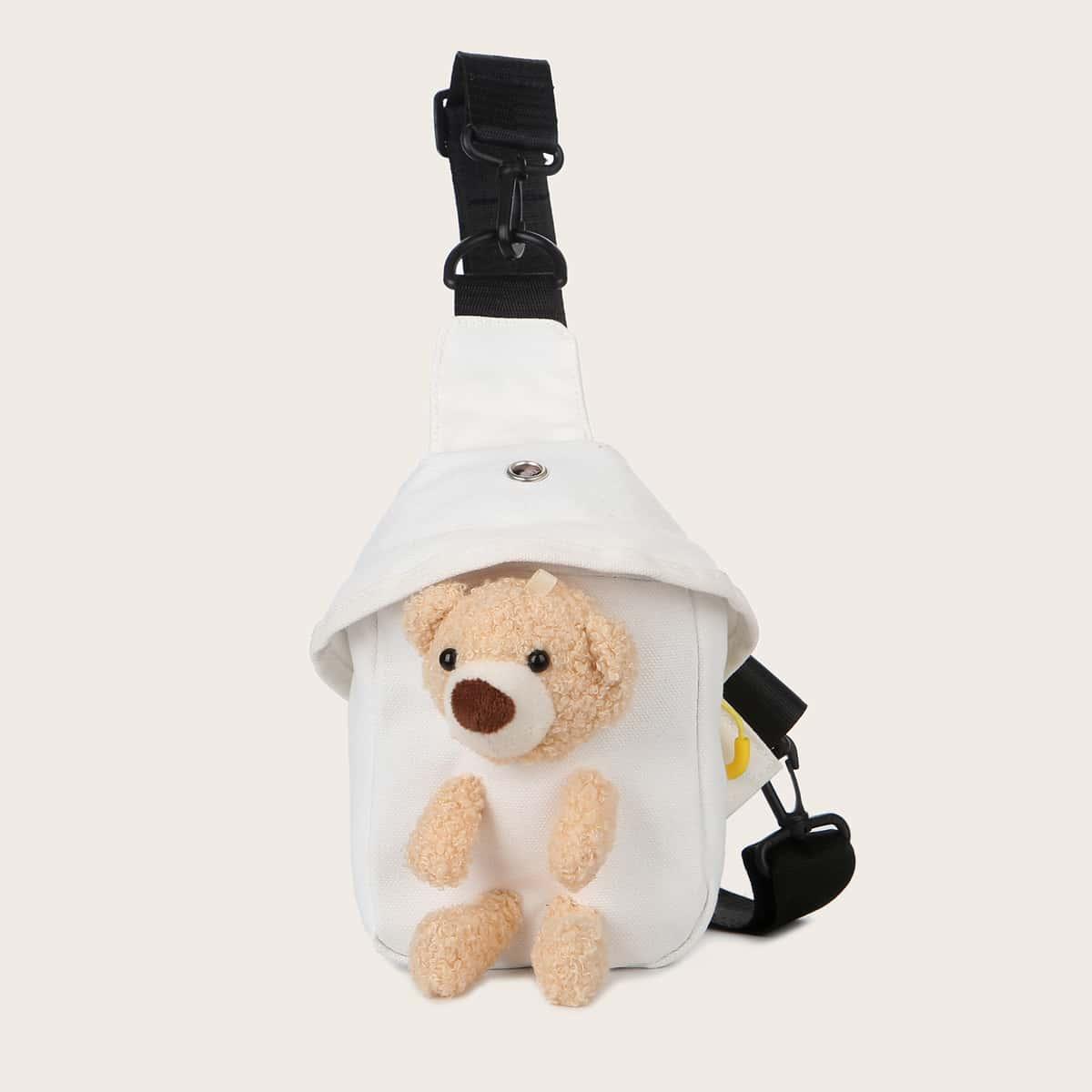 Сумка-слинг с медведем