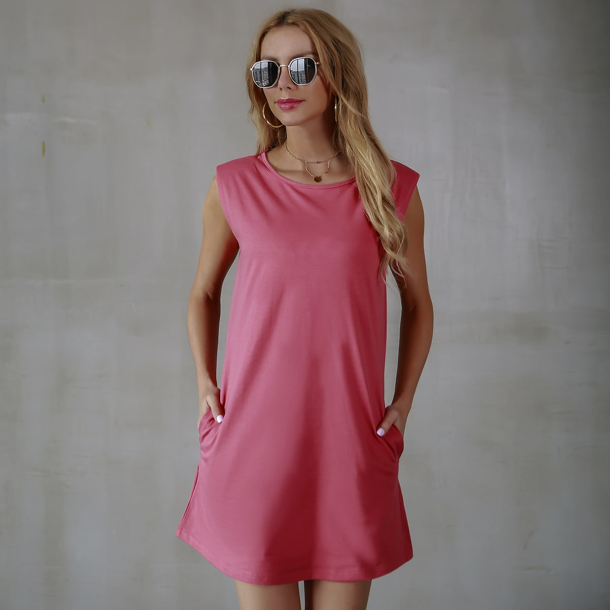 Платье-майка с карманом