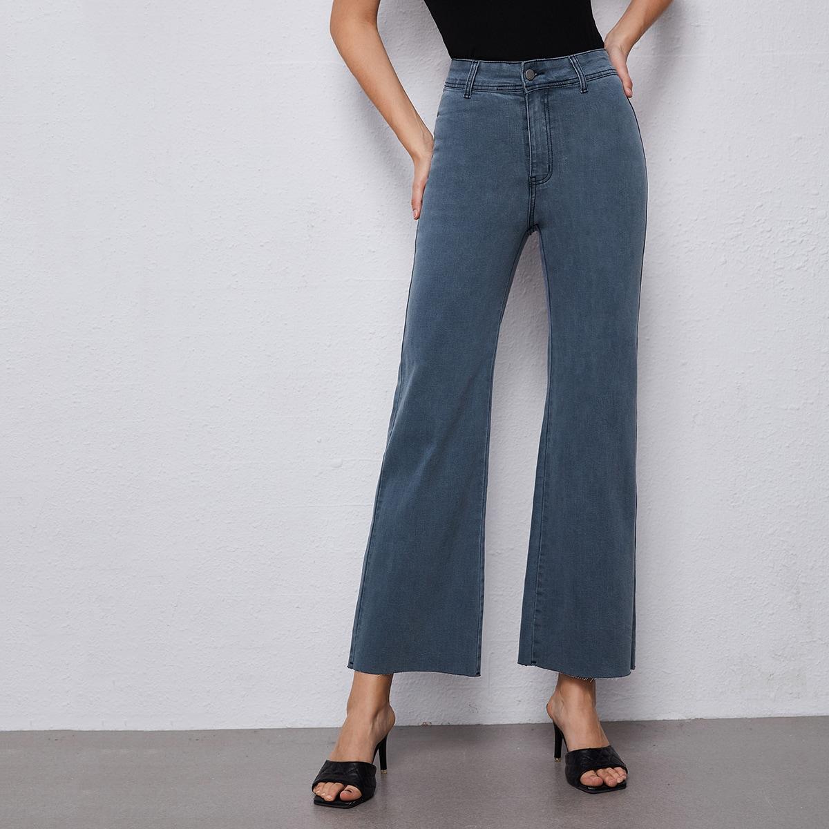 Короткие джинсы с высокой талией