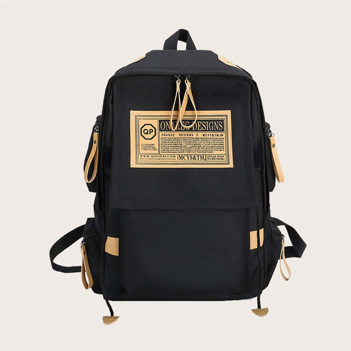 SHEIN / Men Letter Patch Backpack