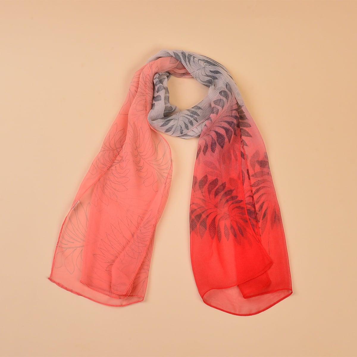 shein Ombre Leaf Pattern Sjaal