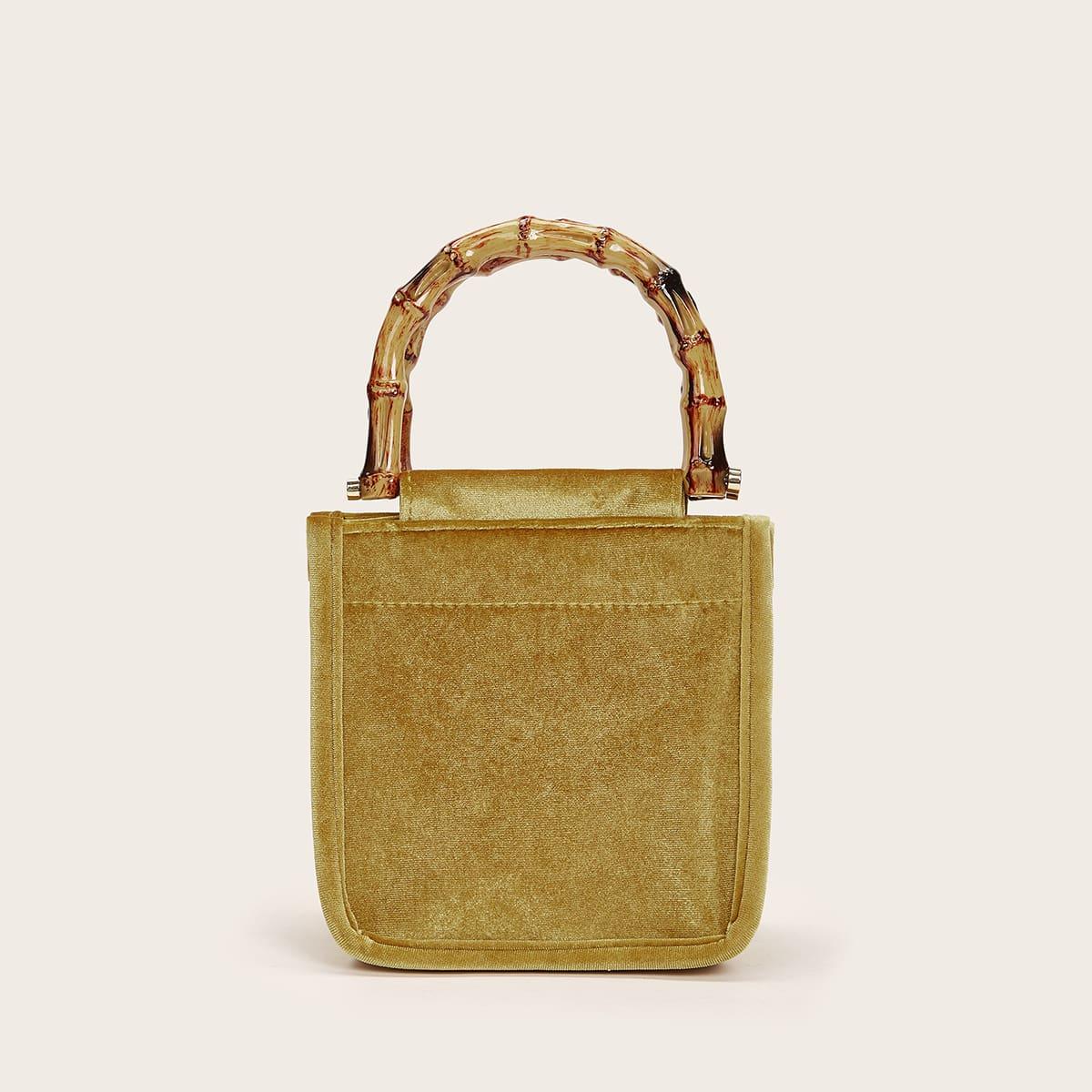 Бархатная квадратная сумка-клатч