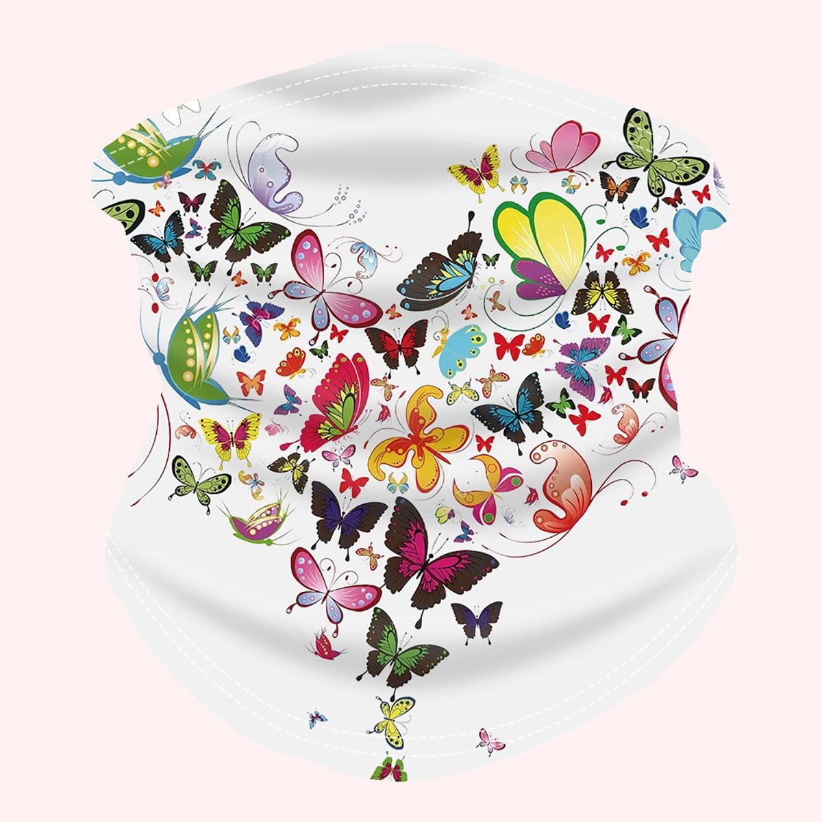 shein Halsbeenkap met vlinderprint