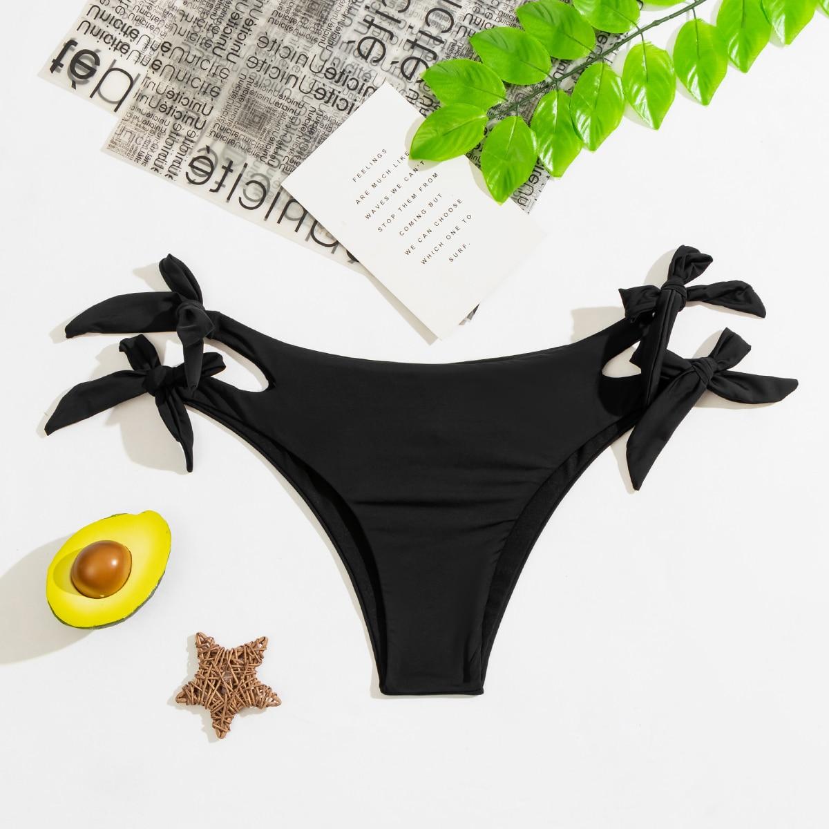 Bragas bikini con cordón lateral con abertura
