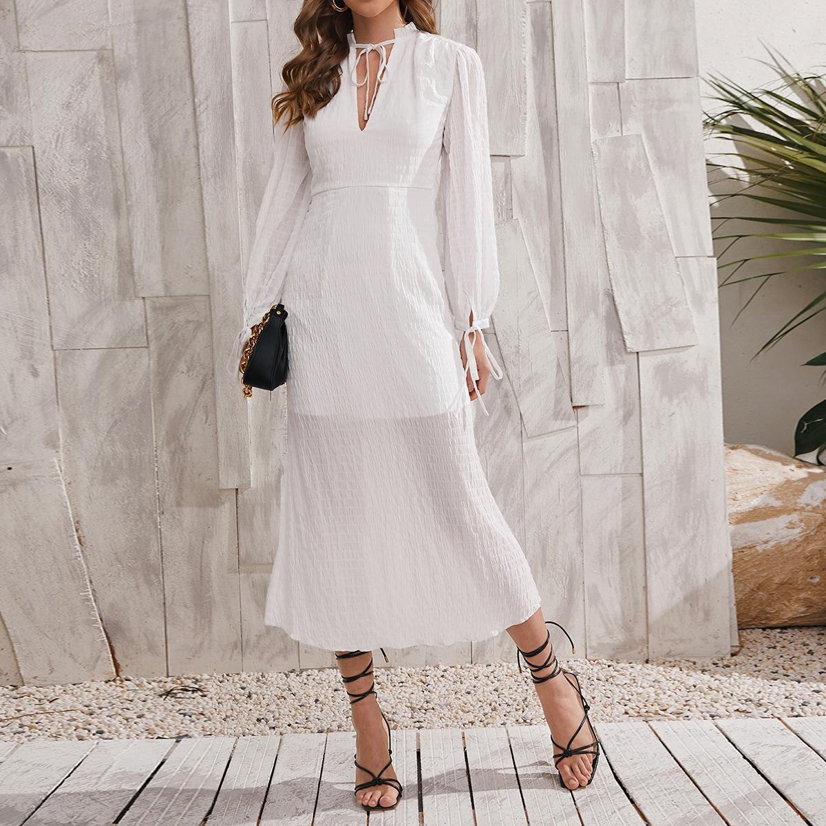 Платье с воротником-бантом SheIn swdress04210111628