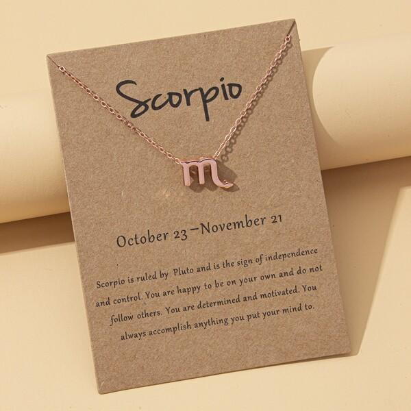 Toddler Girls Constellation Pendant Necklace, Rose gold