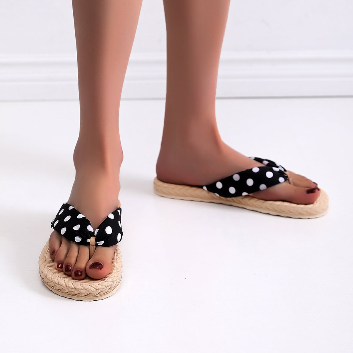 shein Polka Dot teenslippers