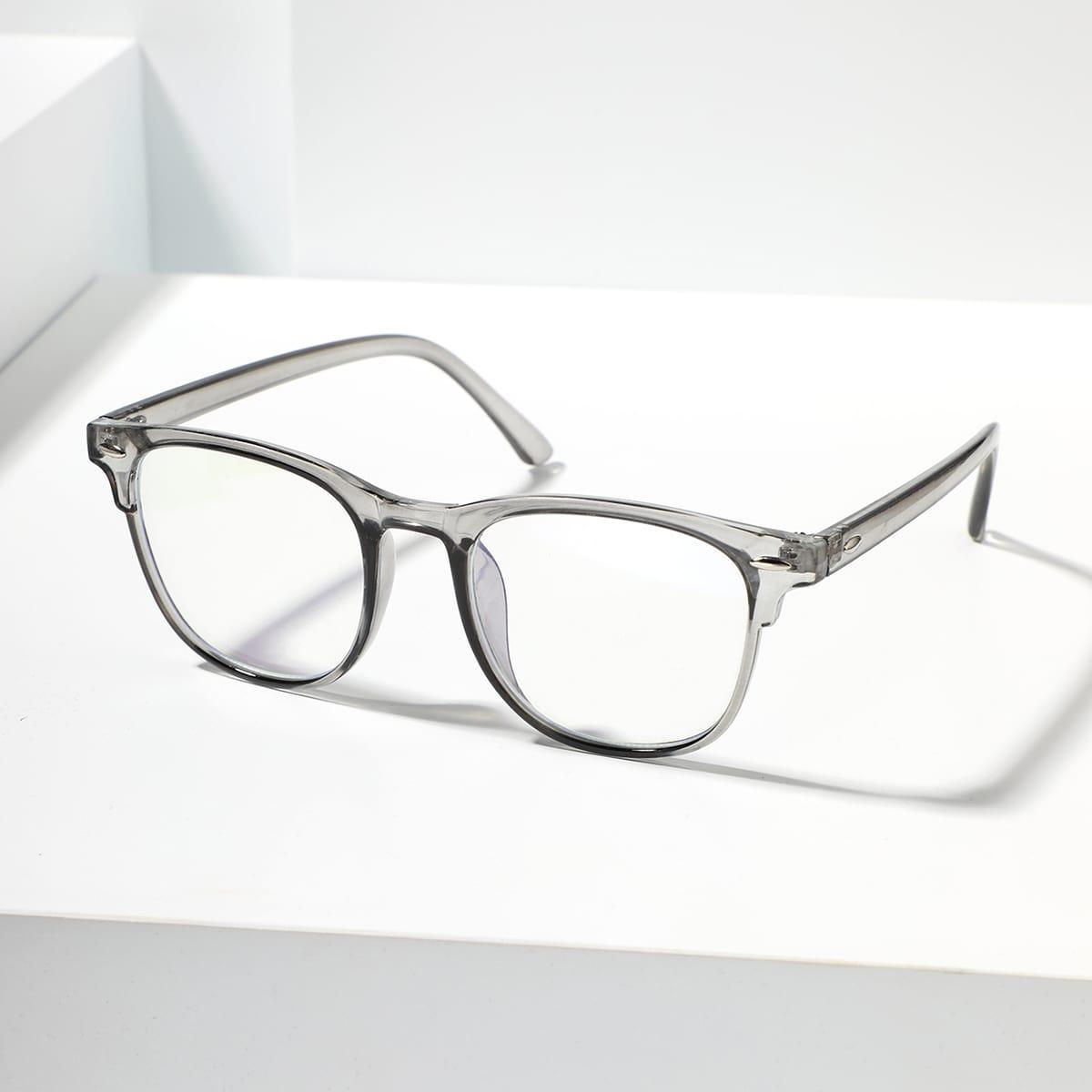 SHEIN Mannen bezaaid decor acryl frame bril